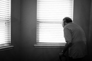 Elderly man aging in place
